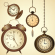 Set of vintage clocks — Stock Vector #20227015