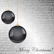 Black and silver Christmas background — Stock Vector