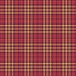 Stock Vector: Seamless texture of rough cotton fabric with plaid
