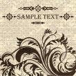 Royalty-Free Stock Vectorafbeeldingen: Vintage invitation card with floral decoration