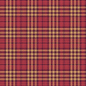 Seamless texture of rough cotton fabric with plaid — Stock Vector