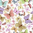 Seamless pattern with stylized butterflies — Stock Vector #20295643