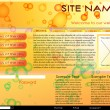 Web site design template. Easy editable, all elements are on different layers - Stock Vector