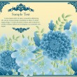 Royalty-Free Stock Imagem Vetorial: Floral greeting card in retro style