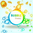 Abstract colorful bubble frame — Stock Vector