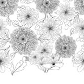 Seamless pattern with dahlia flowers — Stock Vector