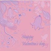 Hand-drawn Valentine's card — Vector de stock