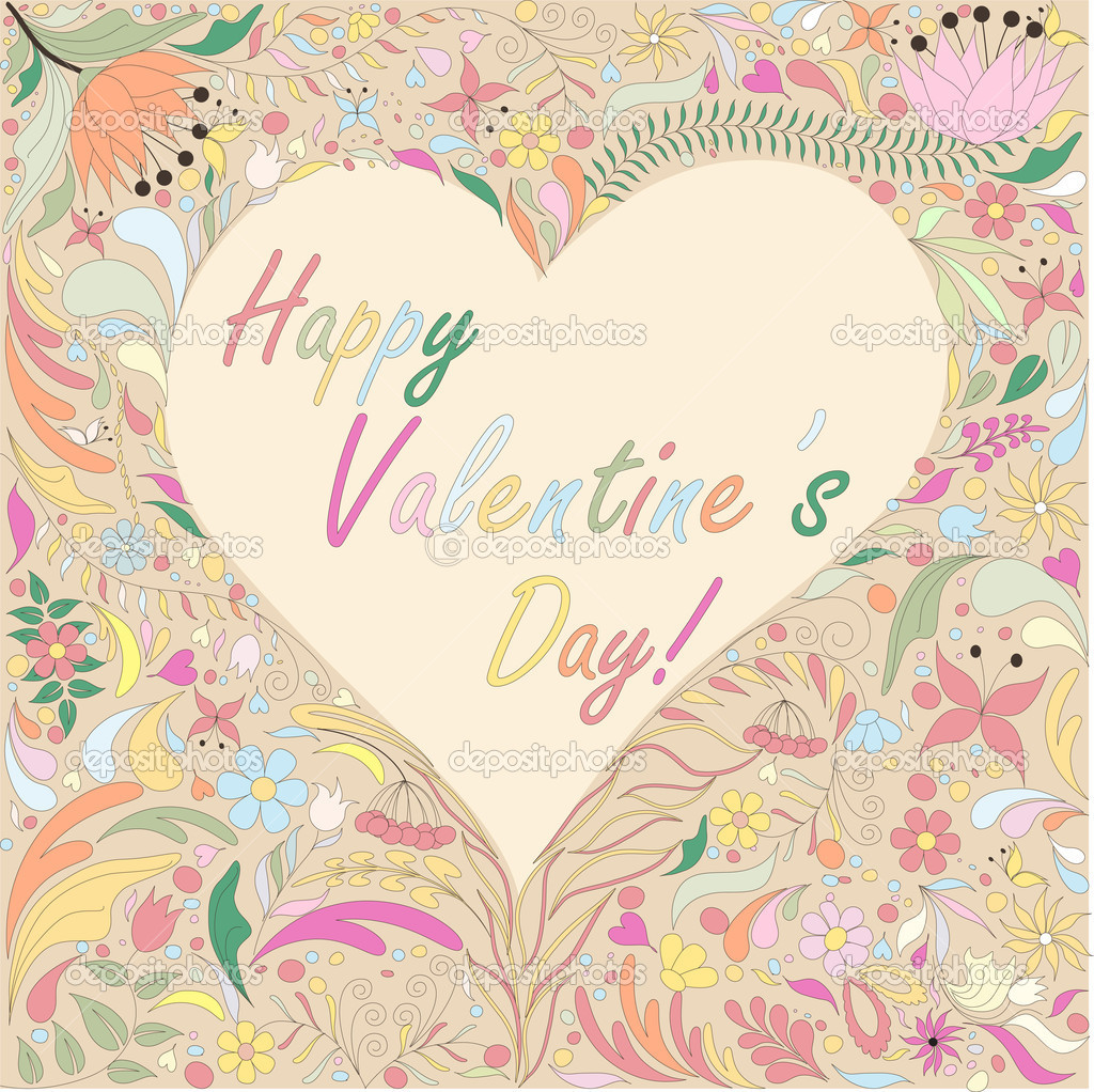 Valentine's card  Stock Vector #20304835