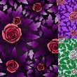 Royalty-Free Stock Vector Image: Seamless pattern with rose flowers