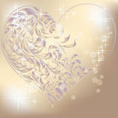 Corazón de plata — Vector de stock