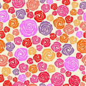 Colorful rose seamless pattern — Stock Vector