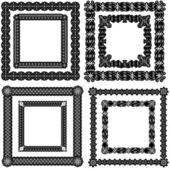 Zestaw ramek sztuka kaligrafii — Wektor stockowy