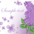 Stock Vector: Lilac background