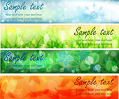 Four season banners — Vector de stock