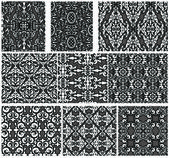 Set of antique seamless patterns — Stock Vector