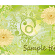 Spring floral card - Stock Vector