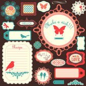 Cute scrapbook childish set — Stock Vector