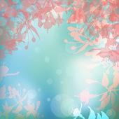 Abstracte zomer achtergrond met bloemen silhouetten — Stockvector