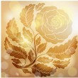 Royalty-Free Stock Vector Image: Retro golden rose