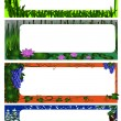 Set of four season nature frames (colored version) - Stock Vector