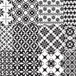 Set of twelve vector geometric seamless patterns - 