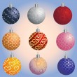 Set of Christmas decoration balls - Stock Vector