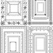 Set of vector vintage frames — Stock Vector #23678535