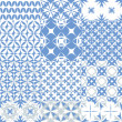 Set of seamless patterns in blue — Stock Vector #23678701