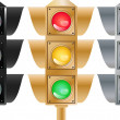 Set of stoplights - Stock Vector