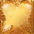 Royalty-Free Stock Vector Image: Golden vector frame