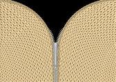 Yarn texture with zipper — Stock Vector