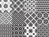 Set of twelve vector geometric seamless patterns — Stockvektor