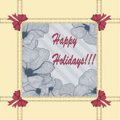 Vector vintage greeting card — Stock Vector