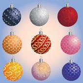 Satz von weihnachten dekoration kugeln — Stockvektor