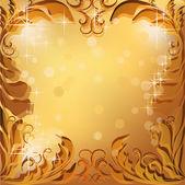 Golden vector frame — Stock Vector
