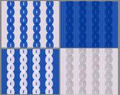 Conjunto de quatro amostras de tecido de malha com tranças — Vetorial Stock