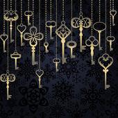 висячие ключи фон — Cтоковый вектор