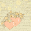 Vintage sketch of hearts and flowers — Stock Vector #25073507
