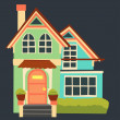 Royalty-Free Stock Vector: Vector vintage cartoon house