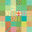 Stock Vector: Set of seamless childish patterns