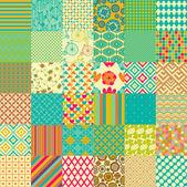 Set of seamless childish patterns — Stock Vector