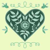 Vector ornate heart — Stock Vector