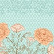 Vector doodle rose background - Imagen vectorial