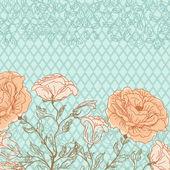 矢量涂鸦玫瑰背景 — 图库矢量图片