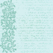 Vintage background with rose doodle border — Stockvektor