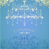Vintage invitation on grungy paper for design — Stock Vector