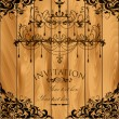 Luxury invitation with chandelier — Imagen vectorial