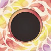 Vector de marco redondo. ilustración de fondo abstracto multicolor — Vector de stock