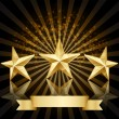 Stock Vector: Gold star award vector background