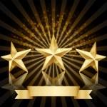 Gold star award vector background — Stock Vector